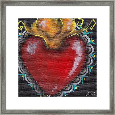 Sagrado Corazon 1 Framed Print by  Abril Andrade Griffith