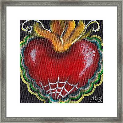 Sagrado Corazon 2 Framed Print by  Abril Andrade Griffith
