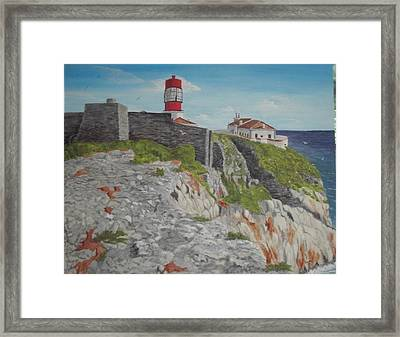 Framed Print featuring the painting Sagres Portugal by Hilda and Jose Garrancho