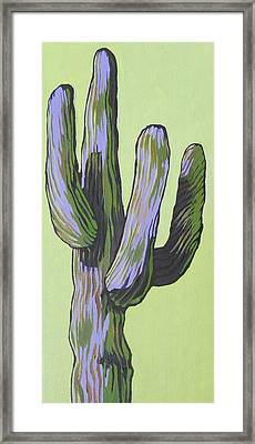 Saguaro 5 Framed Print by Sandy Tracey
