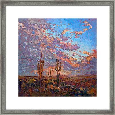Saguaro Light Framed Print