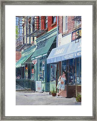 Sahadis Atlantic Avenue Brooklyn Framed Print by Anthony Butera