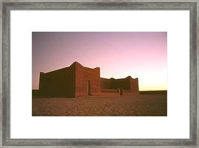 Sahara House Framed Print by David Halperin