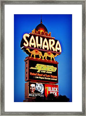 Sahara Sign Framed Print by James Marvin Phelps