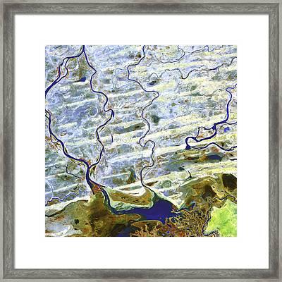 Saharan Desert Rivers, Satellite Image Framed Print by Nasa