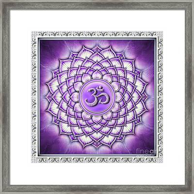 Sahasrara Chakra - Artwork IIi Framed Print by Dirk Czarnota