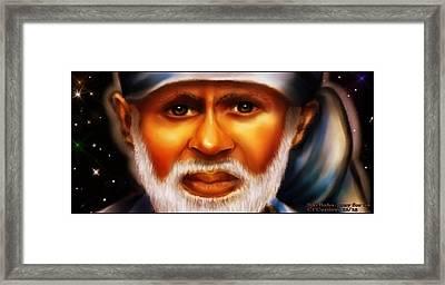 Sai Baba -pray For Us Framed Print by Carmen Cordova
