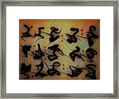 Said And Done Framed Print by Philip Openshaw