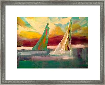 Sail Away 1 Framed Print