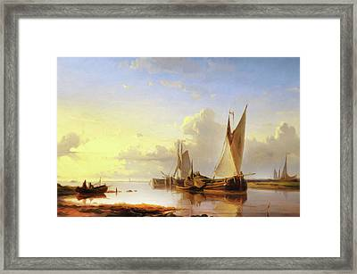 Sail Away At Sunset Framed Print by Georgiana Romanovna