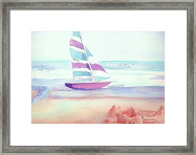 Framed Print featuring the painting Sail Away by Denise Fulmer