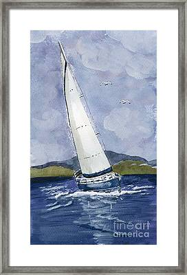 Framed Print featuring the painting Sail Away by Eva Ason