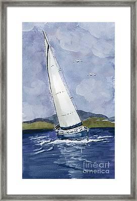 Sail Away Framed Print by Eva Ason