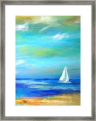 Sail Away In Tropical Waters Framed Print by Patricia Taylor