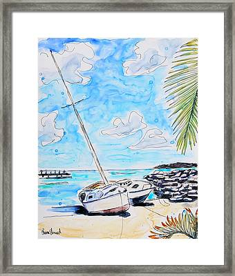 Sail Away Framed Print by Shaina Stinard