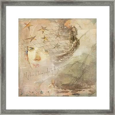 Framed Print featuring the digital art Sail Away by Sue Collura