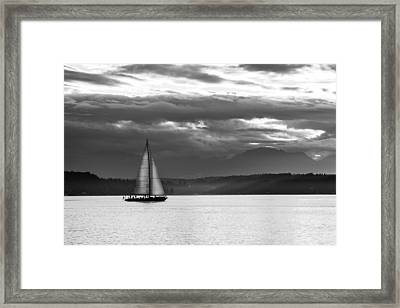 Sail Away Framed Print by TL  Mair