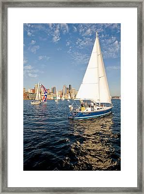 Sail Away Framed Print by Tom Dowd