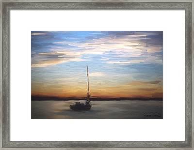 Framed Print featuring the painting Sail Away by Wayne Pascall