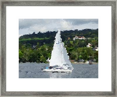 Sail Away With Me Framed Print by Ed Berlyn
