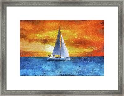 Sail Boat Pa 02 Framed Print