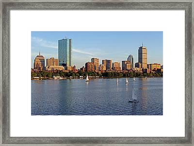 Sail Boston Framed Print