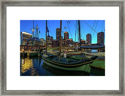 Framed Print featuring the photograph Sail Boston Tall Ship Essex by Juergen Roth