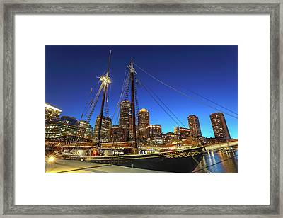 Framed Print featuring the photograph Sail Boston Tall Ships by Juergen Roth