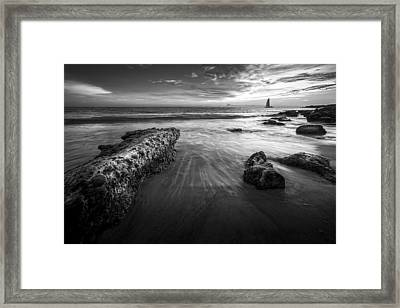 Sail Into The Sunset - Bw Framed Print
