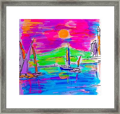 Sail Of The Century Framed Print
