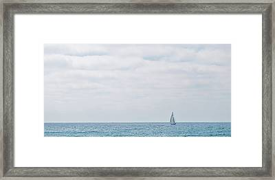 Sail On Blue - Widescreen Framed Print by Peter Tellone