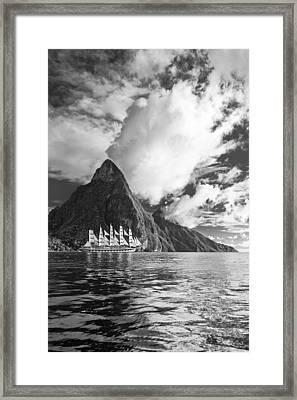 Sail On II Framed Print by Jon Glaser