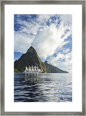 Sail On Framed Print by Jon Glaser