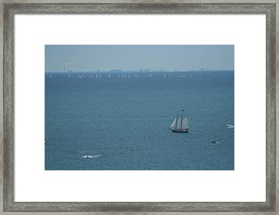 Sail On Michigan Framed Print by Gregory Jeffries