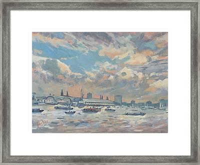 Sail Regatta On The Ij Framed Print