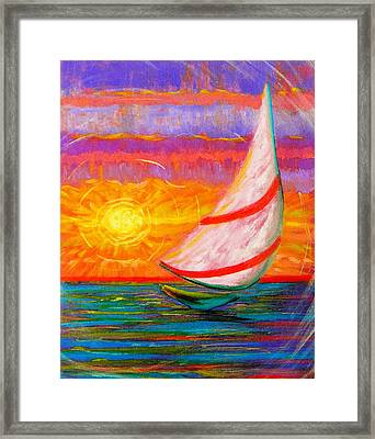 Sailaway Framed Print by Jeanette Jarmon