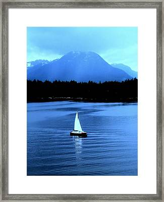 Sailboat 1 Framed Print by Randall Weidner