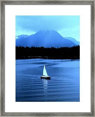Sailboat 1 Framed Print by Randall Weidner