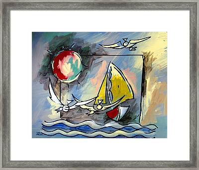 Sailboat 2 Framed Print