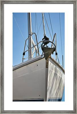 Sailboat Bow 3 Framed Print