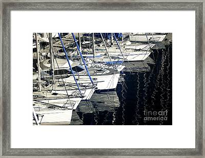 Sailboat Bow Framed Print by John Rizzuto