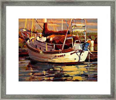 Sailboat Framed Print by Brian Simons