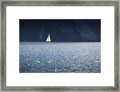 Framed Print featuring the photograph Sailboat by Chevy Fleet