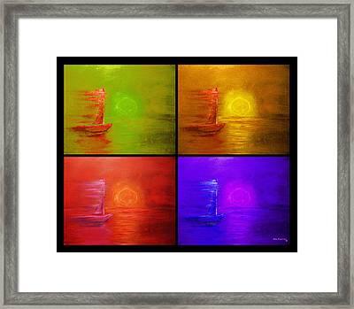Sailboat Collage Framed Print by Ken Figurski