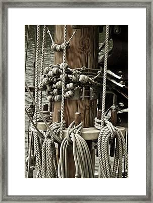 Sailboat Detail 3952 Framed Print by Frank Tschakert