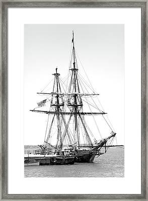 Sailboat Docked In Cleveland Harbor Framed Print