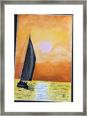 Framed Print featuring the painting Sailboat by Donald Paczynski