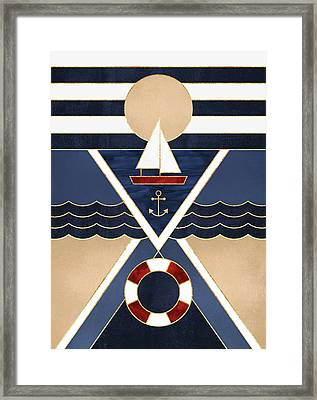 Sailboat Framed Print by Elisabeth Fredriksson