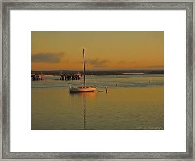Sailboat Glow Framed Print