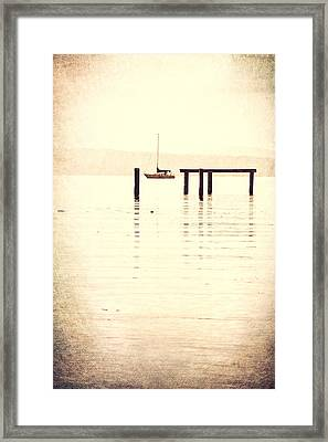 Sailboat Grunge Framed Print